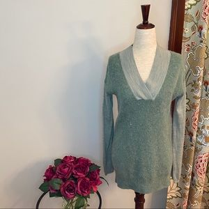 Moth by Anthropologie green extra long sweater